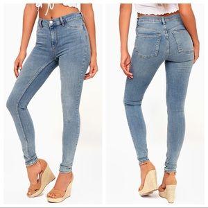 NWT Free People High Rise Long & Lean Skinny Jean